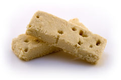 Two shortbread fingers Royalty Free Stock Photo