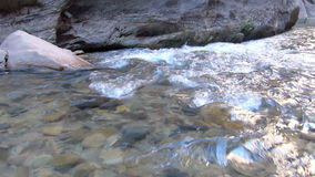 Two Shots of a Flowing River at Zion National Park Utah Shot. Two Shots of a river flowing at Zion National Park in Utah, United States of America with natural stock video footage