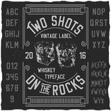 Two Shots Poster Royalty Free Stock Images