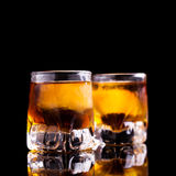 Two shots of rum Stock Photography