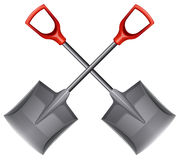 Two shovels Stock Photography