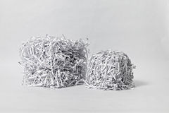 Two Shredded Paper Cubes Royalty Free Stock Photo