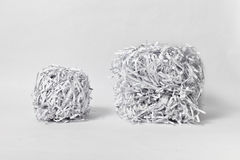 Two Shredded Paper Cubes Royalty Free Stock Photos