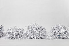 Two Shredded Paper Cubes Royalty Free Stock Image