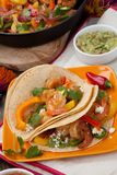 Two Shrimp Fajitas Royalty Free Stock Images