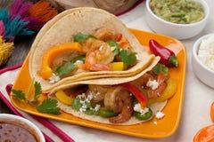 Two Shrimp Fajitas Stock Images