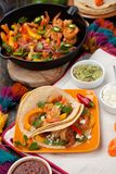Two Shrimp Fajitas Stock Photography
