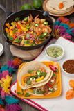 Two Shrimp Fajitas Royalty Free Stock Image