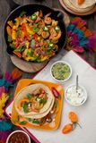 Two Shrimp Fajitas Royalty Free Stock Photos