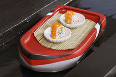 Two shushi in white plate Stock Photo