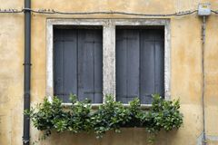 Two shuttered windows Royalty Free Stock Photography