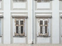Two shuttered windows Stock Photography