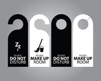 Two Side Black and White Door Hanger Tags for Room in Hotel or Resort Royalty Free Stock Photography