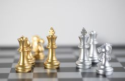 Two side for business fight for the market. Chess board is the intelligence strategy game to make ideas for business and marketing concept, the success ideas is royalty free stock photography