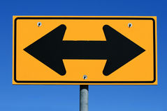 Two sided arrow road sign Stock Photography