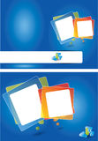 Two sided blue vector brochure design Royalty Free Stock Photography