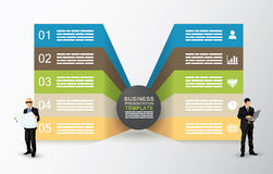 Two sided presentation template Stock Image