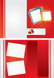 Two sided red brochure design Royalty Free Stock Image