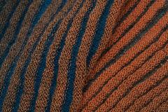 Two-sided ribbed knitted scarf Stock Photo