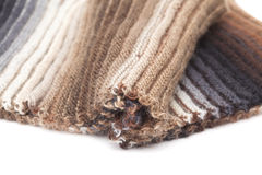 Two-sided ribbed knitted scarf Royalty Free Stock Photo