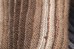 Two-sided ribbed knitted scarf Royalty Free Stock Image