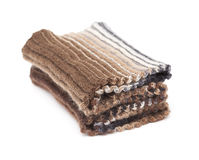 Two-sided ribbed knitted scarf Stock Image
