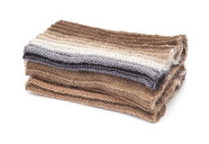 Two-sided ribbed knitted scarf Royalty Free Stock Photos