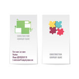 Two sided vector corporate business card template. Modern and minimalist. Two-sided vector corporate business card template. Your logo, name, surname, owner Royalty Free Stock Images