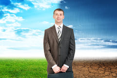 Two sides businessman Stock Image