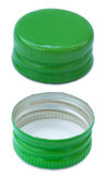 Isolated Green Metal Bottle Cap Both Sides Stock Images