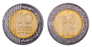 Isolated 10 Shekels - Both Sides Frontal Royalty Free Stock Photography