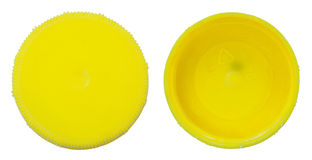Isolated Yellow Plastic Cap Stock Image