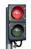 Two signal red and green traffic light isolated Stock Photo