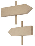 Two signposts made of cardboard Royalty Free Stock Photography