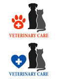 Two signs with pet silhouette Stock Photography