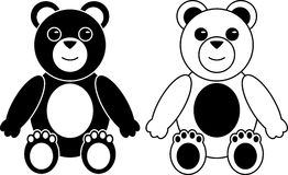 Two Silhouette of Teddy Bears Royalty Free Stock Images
