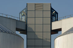 Two silos of an industrial plant Stock Photo