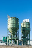 Two silos for lime Royalty Free Stock Image