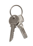 Two silver keys Royalty Free Stock Photo