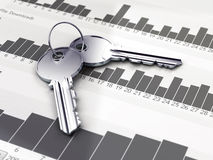 Two silver keys Royalty Free Stock Photos