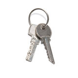 Two silver keys Royalty Free Stock Photography