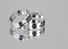 Two silver rings Royalty Free Stock Photo