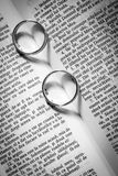 Two silver rings Stock Photo