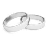 Two silver rings Royalty Free Stock Photography