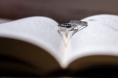 Two silver rings Stock Photography