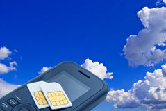 Two sim card. Royalty Free Stock Photos