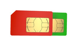 Two SIM cards 4 Stock Photo