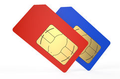 Two SIM cards 3 Royalty Free Stock Image