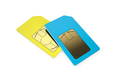 Two SIM cards 2 Stock Photo