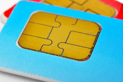 Two sim cards Stock Photography